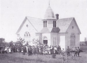 Frank Lake church 1917